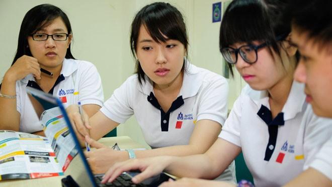 Một buổi thảo luận nhóm của sinh viên Hoa Sen