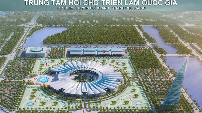 Trung tâm HCTLQG sẽ được kiến tạo thành một thành phố triển lãm trong tương lai