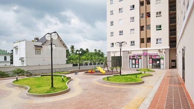 Các tiện ích chung của khu căn hộ đã được hoàn thiện, sẵn sàng phục vụ các cư dân