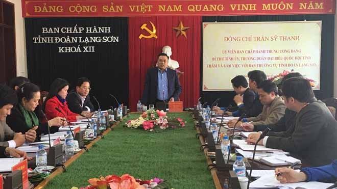Đồng chí Nguyễn Sỹ Thanh - Ủy viên Trung ương Đảng, Bí thư Tỉnh ủy, Trưởng đoàn đại biểu Quốc hội tỉnh Lạng Sơn phát biểu chỉ đạo Hội nghị