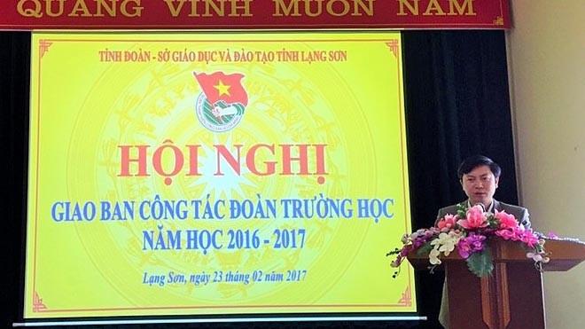 Đồng chí Nguyễn Hoàng Tùng - Ủy viên BCH Trung ương Đoàn, Tỉnh ủy viên, Bí thư Tỉnh đoàn phát biểu chỉ đạo tại hội nghị