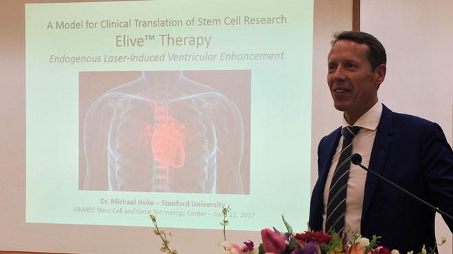 TS Michael Heke (ĐH Stanford - Mỹ) - một trong những nhà khoa học hàng đầu của Mỹ về sinh học phân tử, nghiên cứu tế bào gốc