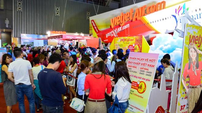Vietjet tặng 700.000 vé giá từ 0 đồng tại Hội chợ Du lịch quốc tế TP.HCM