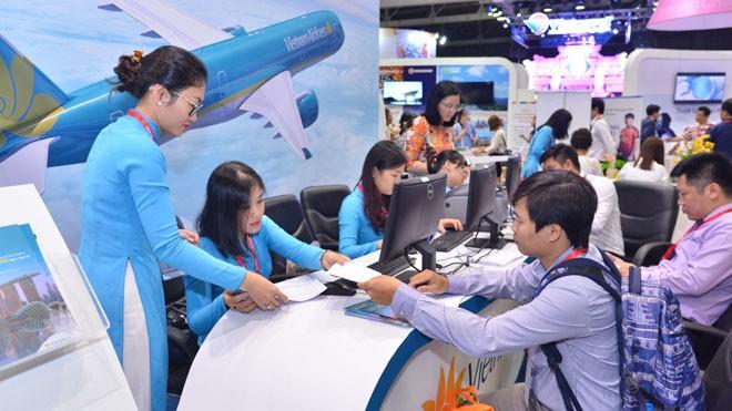 Vietnam Airlines và Jetstar Pacific bán nhiều vé rẻ tại Hội chợ Du lịch Quốc tế TPHCM