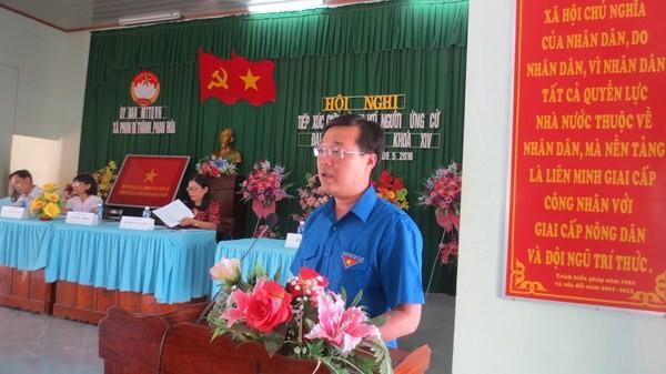 Anh Lê Quốc Phong tiếp xúc cử tri xã Phan Rí Thành và Phan Hòa, tỉnh Bình Thuận.