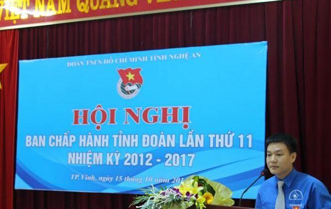 Anh Phạm Tuấn Vinh – Bí thư tỉnh đoàn khóa XVI, nhiệm kỳ 2012- 2017.