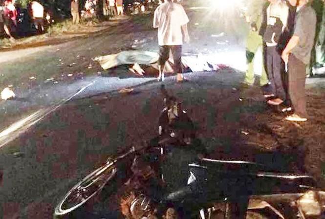 Hiện trường vụ tai nạn giao thông (Ảnh: CSGT cung cấp).