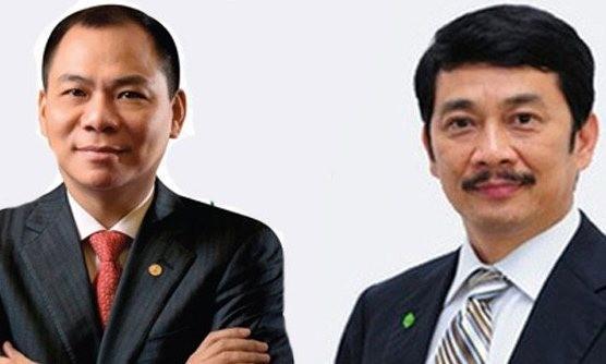 Ông Phạm Nhật Vượng và ông Bùi Thành Nhơn, 2 đại gia bất động sản Việt Nam.