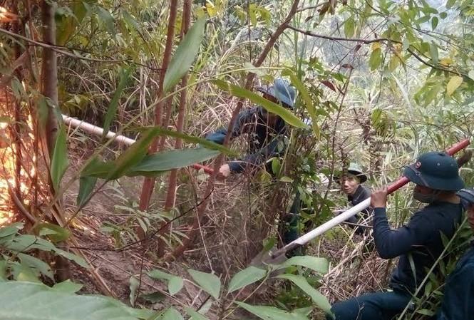 Chiến sĩ phòng không chữa cháy rừng