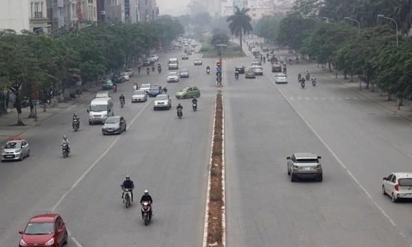 Đường phố Hà Nội vắng vẻ ngày đầu năm mới 2017