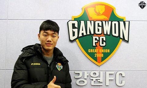 Xuân Trường đã có sự thể hiện tốt trong màu áo Gangwon.