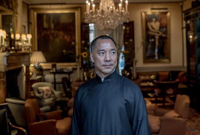 Chân dung ông Guo Wengui, một tỷ phú bất động sản Trung Quốc. Ảnh: NYT.