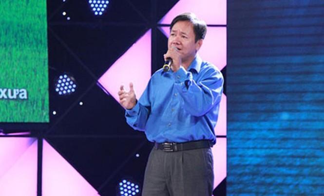 """Anh Đặng Hữu Nghị trong chương trình """"Hát mãi ước mơ""""."""