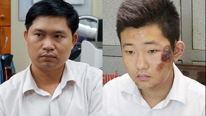 Nguyễn Mạnh Tường và Đào Quang Khánh tại cơ quan điều tra