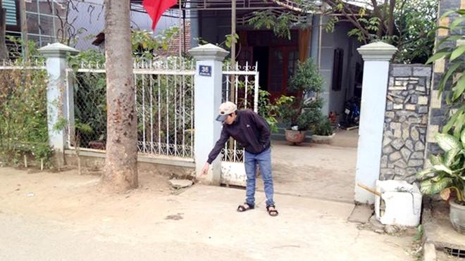 Hiện trường nơi chị Linh bị đánh tử vong. Ảnh: Người Lao Động