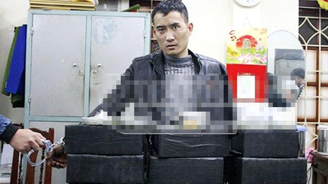 Đối tượng Trần Đức Duy bị bắt khi đang vận chuyển 94 bánh heroin