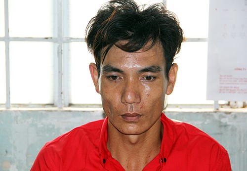 Kẻ trộm mang 2 tiền án bị bắt. Ảnh: Hồng Tuyết