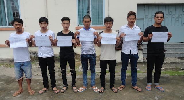 Nhóm thanh niên tham gia hỗn chiến được mời về trụ sở Công an làm việc
