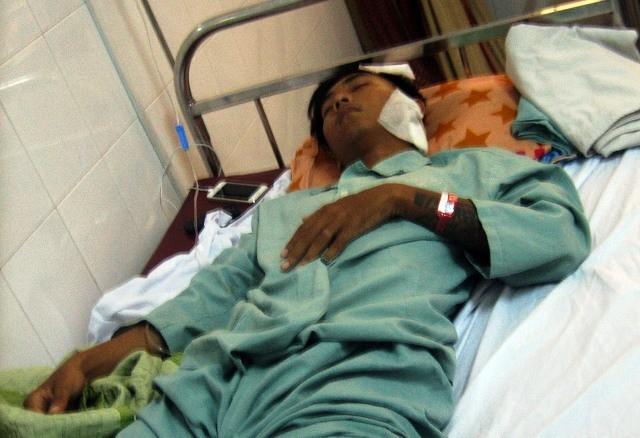 Nạn nhân đang dưỡng thương tại bệnh viện
