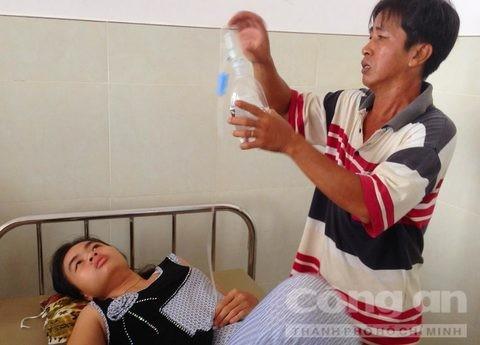 Lộc đang được điều trị tại bệnh viện - Ảnh: Nguyễn Nhân