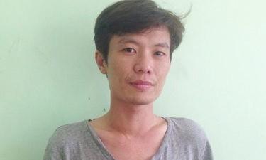 Đối tượng Phạm Hùng Tấn tại cơ quan công an - Ảnh: Tuấn Thành
