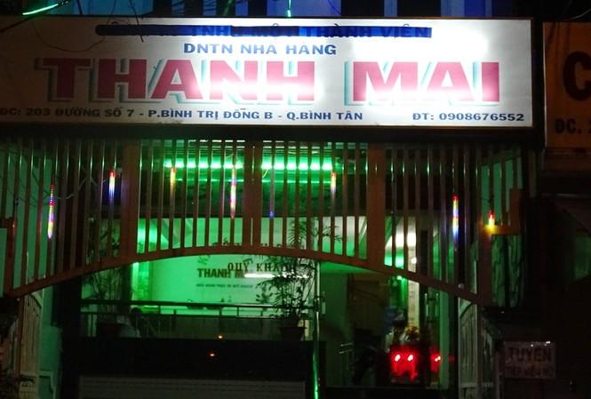 Nhà hàng Thanh Mai bị công an kiểm tra