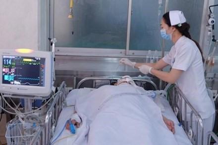 Một nạn nhân ở Bệnh viện Chợ Rẫy sau khi bị cướp giật xô ngã