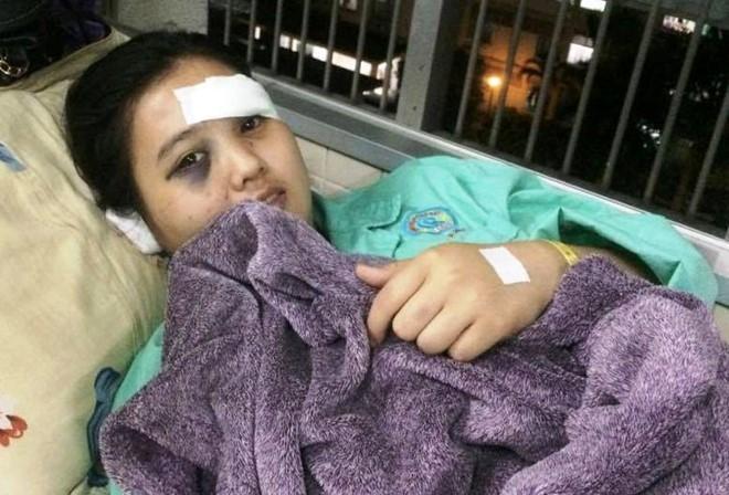 Nguyễn Thị Ngọc Trúc khi nằm điều trị tại bệnh viện