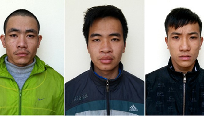 Ba trong số các nghi can bị điều tra hành vi giết người. Ảnh: Giang Chinh.