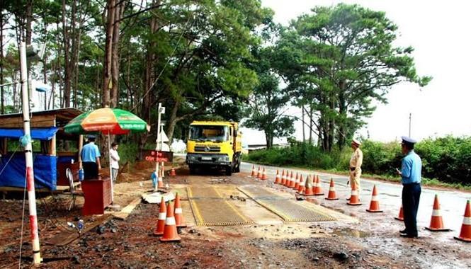 Trạm cân số 56, đặt tại xã Quảng Sơn, huyện Đắk G'long (Đắk Nông) nơi liên tiếp phát hiện TTGT tiêu cực. Ảnh Vietnamnet