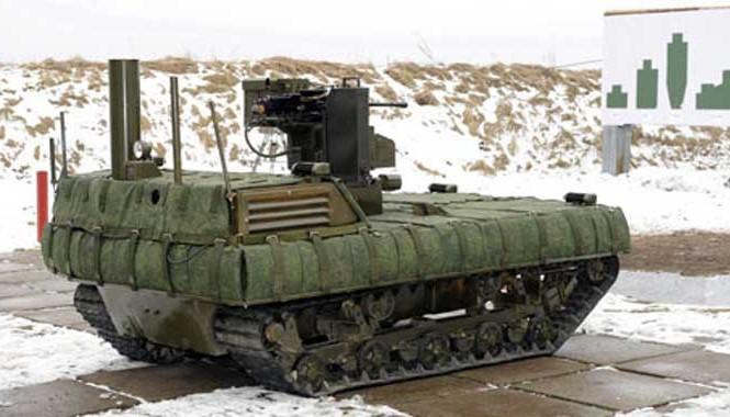 Một robot sát thủ của Nga. Ảnh: Bộ Quốc phòng Nga.