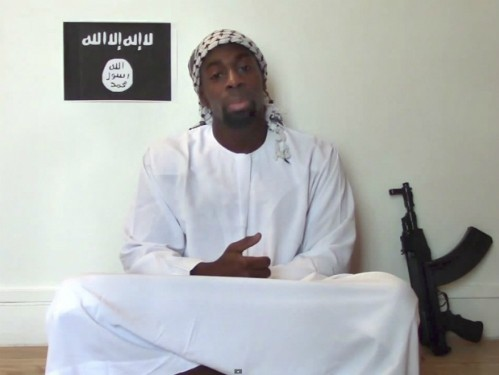 Amedy Coulibaly, kẻ bắt cóc và tấn công con tin tại siêu th Do Thái ở Paris hôm 9/1 đã thề trung thành với IS trong một video. Ảnh: National Post