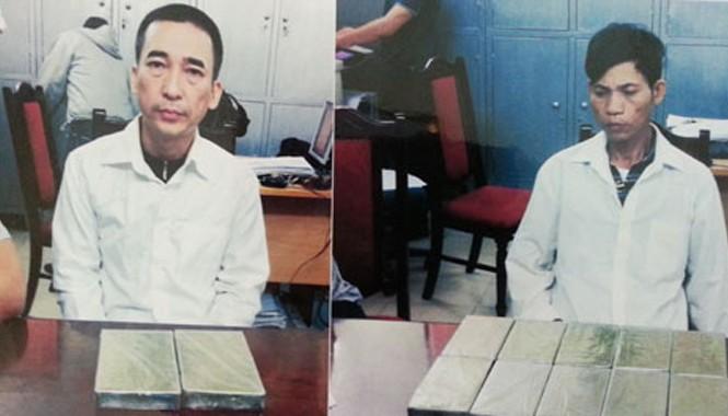 Trịnh Văn Dũng và Nguyễn Duy Ngưu bị bắt giữ cùng tang vật.