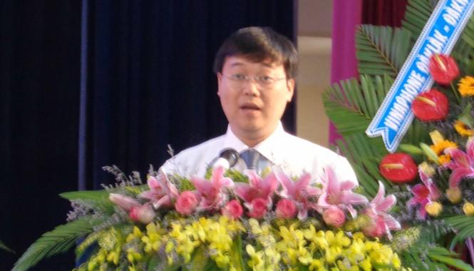 Anh Lê Quốc Phong, Bí thư Trung ương Đoàn, Chủ tịch Hội sinh viên Việt Nam phát biểu tại đại hội.