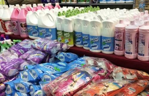 Hàng tiêu dùng Thái Lan ngày càng hiện diện nhiều trên thị trường. Ảnh: Pháp Luật.