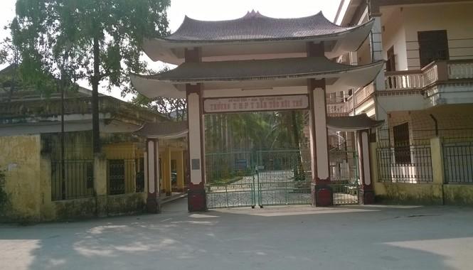 Trường THPT DTNT tỉnh Thanh Hóa, đường Phạm Ngũ Lão, phường Đông Sơn, TP Thanh Hóa. Ảnh: Hoàng Lam.