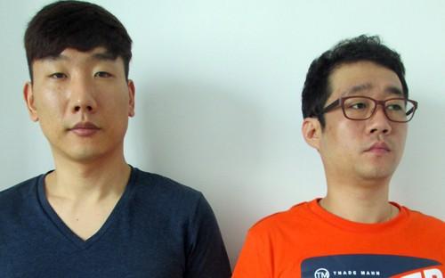 Một trong số những nghi can vừa được bàn giao cho cảnh sát Hàn Quốc. Ảnh: Cơ quan điều tra cung cấp.