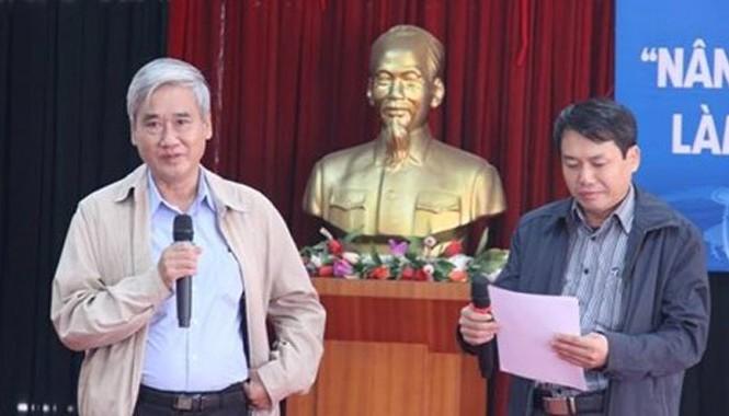 Ông Nguyễn Hữu Thắng (bên trái). Ảnh: P.Mai.