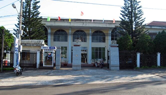 Trụ sở kho bạc huyện Chư Păh - nơi xảy ra sự việc.