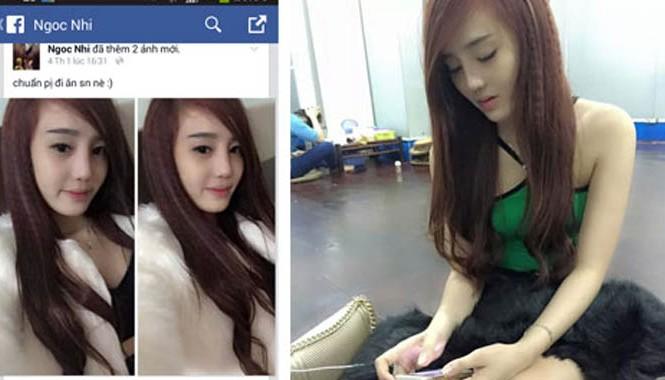 """""""Má mì"""" Nguyễn Thị Mai Thi tung ảnh xinh đẹp như hotgirl trên trang facebook có tên """"Ngoc Nhi""""."""