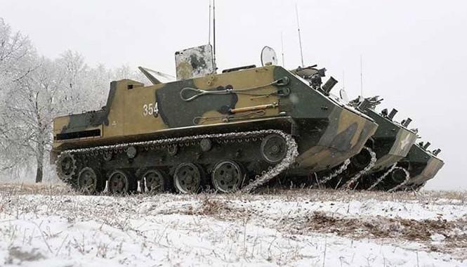 Nhìn bên ngoài xe BTR-MD Rakushaka. Đây là xe được thiết kế cho lực lượng đổ bộ đường không của Nga.