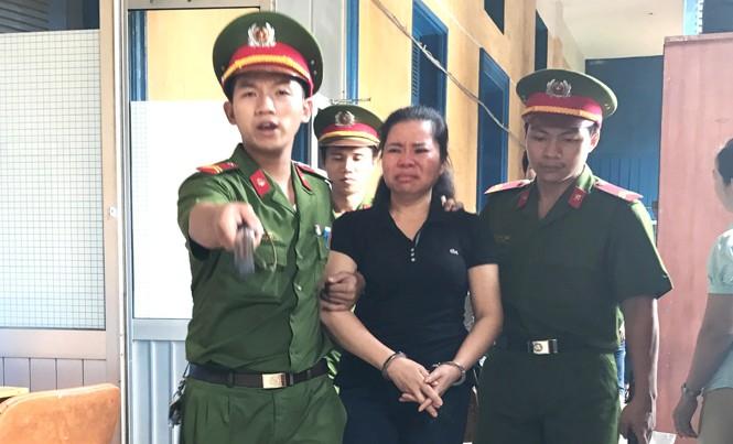 Bà trùm ma túy Trần Thị Kim Chi lãnh án tử hình sáng nay 6/10. Ảnh: Tân Châu.