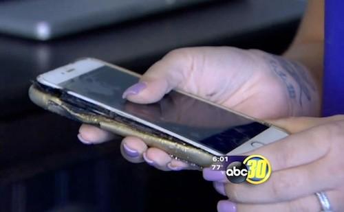 Một chiếc iPhone 6 Plus phát nổ dù người dùng nói sạc bằng adapter chính hãng.