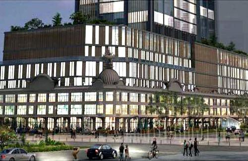 Phối cảnh tòa nhà thương xá Tax mới với 40 tầng. Ảnh: Satra.