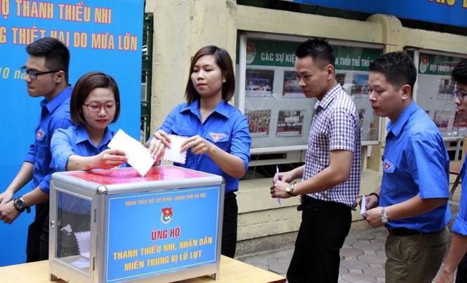Tuổi trẻ Thủ đô chung tay cứu trợ miền Trung