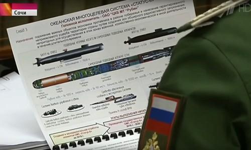 Tài liệu về dự án Status 6 mà truyền hình Nga để rò rỉ. Ảnh: RT.