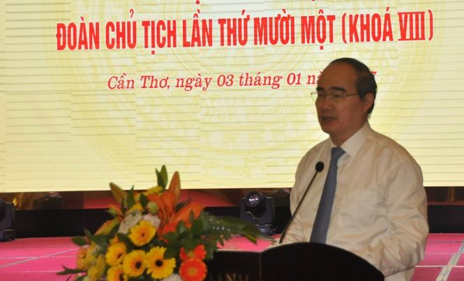 Ông Nguyễn Thiện Nhân phát biểu.