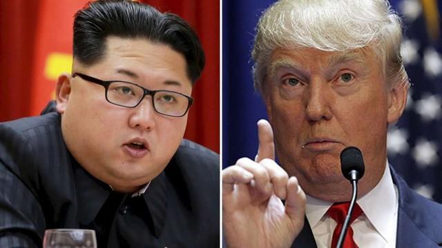 Tổng thống đắc cử Mỹ Donald Trump (phải) và nhà lãnh đạo Triều Tiên Kim Jong-un. Ảnh: SCMP.
