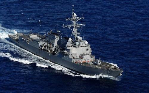 Tàu khu trục Mỹ tại Trung Đông. Ảnh: Hải quân Mỹ.