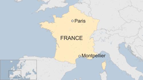 Vị trí thành phố Montpellier, Pháp. Đồ hoạ: BBC.